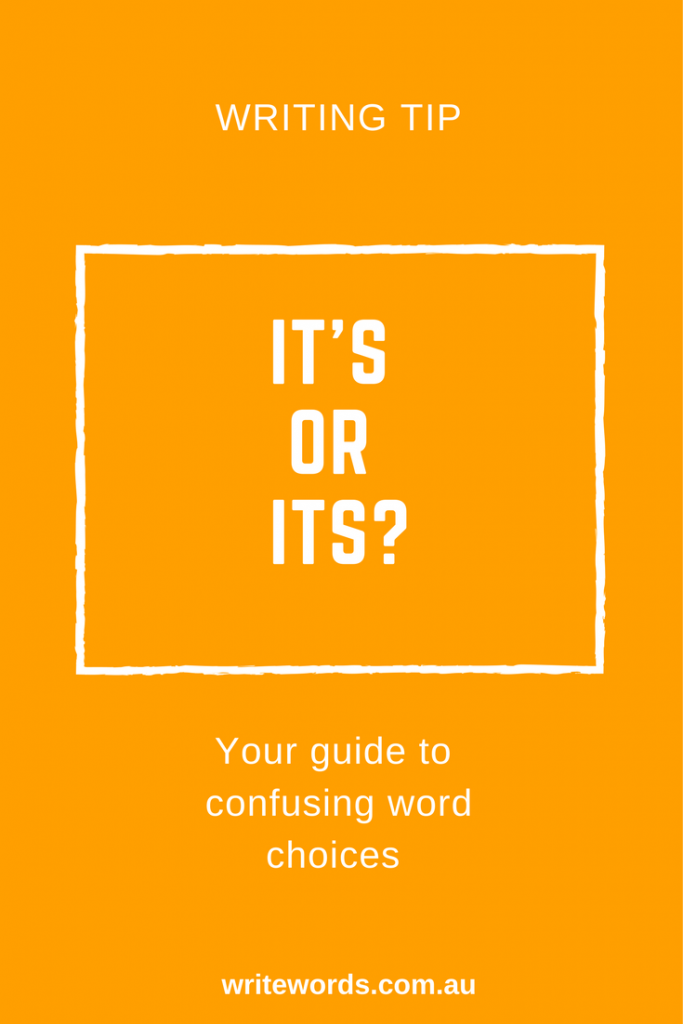 Thought bubbles with text overlay – Its v It's – Your guide to confusing words
