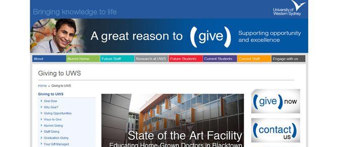 Giving website