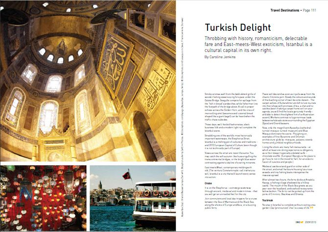 Travel destination feature - Istanbul