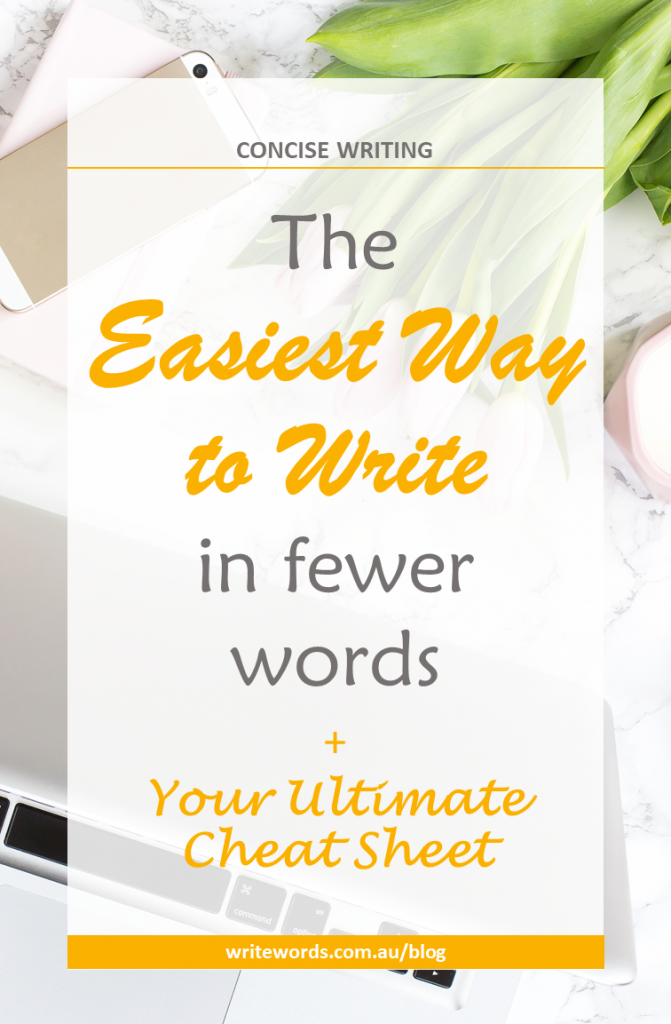 How to write in fewer words – discover the easiest way to reduce wordiness and write efficiently without omitting vital information #writeless, #concise, #writewell