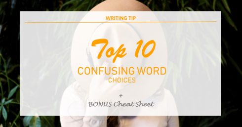 Hat over face with text overlay - Top 10 Confusing word choices