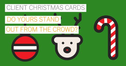 Christmas green with bauble, reindeer and candy cane with text overlay – Christmas – do your cards stand out from the crowd?